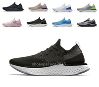2019 New Black Women Running Shoes Epic React Fly Knit Train...