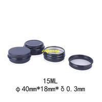 500pcs / lot 15g 블랙 알루미늄 병 15ML 빈 작은 립 오일 화장품 아이 크림 병 Batom 여행 로션 틴 컨테이너