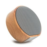Wood Grain Wireless Bluetooth Speaker Portable Mini Subwoofe...