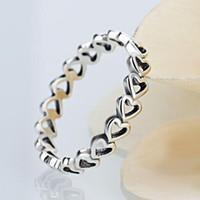 anillos de la joyería para las mujeres excavadas en el corazón suena simple de la moda caliente al por mayor regalo del amante libre del envío