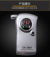 CA2000 Digital Alcohol Meter Tester Detector Detector Burebémetro Alcoholiyzer Wine Whighter Checker Buscador Monitor con cargador de automóviles