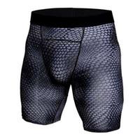 бодибилдинг эластичные колготки шорты для бега мужчины сжатия базовый слой днища шорты тощий фитнес-зал ММА Мужские шорты