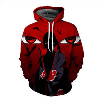 2018 new large size 3D Hoodie Naruto anime Uchiha Itach men ...