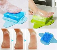 Pés Foot Bath Shower escova Spa Washer Cleaner desgaste Scrubber Massager do pé com otário pode pendurar Esfoliante Escova
