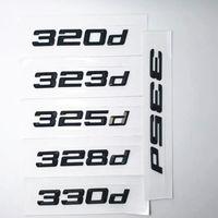Noir 316D 320D 325D 328D 335D 335D Emblème Numéro arrière Lettres Badges pour BMW 3 Series E90 E46 E91 E92 E93 F30 Accessoires de voiture