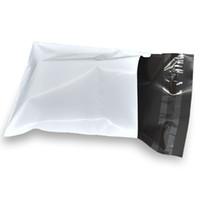 11 * 22 + 4cm vit kurir fraktväska Självhäftande ljusbeständiga kurirpackning Kuvertväskor Mailing Plast Packaging Bag 100pcs / Lot