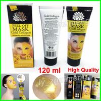 Altın Maske Soyulabilir Altın Kollajen 120 ml Derin Temizlik arındırıcı yüz maskesi soymak siyah nokta Kaldır Peel altın Maskeleri