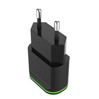 5V 2.1A 빠른 USB 충전 어댑터 2 포트 USB 여행 벽 충전기 EU / US 플러그에 대 한 삼성 Xiaomi 화 웨이