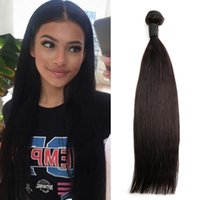 1 Piece Peruvian Hair Extension Natural Black Color Straight Hair Weave Weft Donor-Braided Bella hair Julienchina U.S. Free Shipping