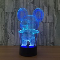Koala illusion 3D Night Light 7 Changement de couleur LED Table lampe de bureau 2018 Cadeaux lampe nouveauté Light # R45