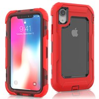 For Iphone XR Defender Case 3in1 High Impact Heavy Duty Hard...