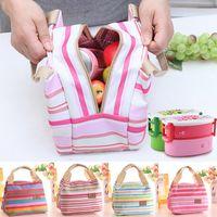 Moda Portátil Lona Isolada almoço Saco Térmica Piquenique Comida Sacos de Almoço para As Mulheres homens Cooler Lunch Box Tote Bag