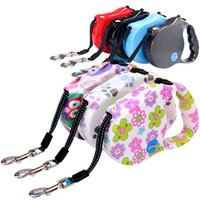 5 M Nylon Walking Pet Leads Automatic Dog Retractable Leash ...