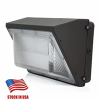Stock In US AC110- 277V 80W 100W 120W led wall pack light lam...