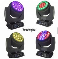 4 parça Büyük 19 * 15 W Arı Gözler LED Hareketli Kafa Yakınlaştırma Işık kil paky aleda yıkama k10 B GÖZ ışın movinghead