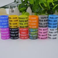 Banda di Vape in silicone OEM gratuita da 500 pezzi con il tuo nome Anelli di silicone colorati personalizzati Anello di sicurezza Ecig Anelli in silicone 22 * 7 * 1.5mm