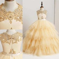 Fashion Flower Girl Dresses Ball Gown Beaded Sequins With Sa...