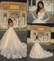 2018 Gorgeous Wedding Dresses Sheer Long Sleeve Vintage Lace...