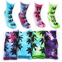NEW 10Colors Tie- dyed Crew Socks christmas plantlife socks f...