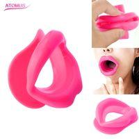 3 colori gomma di silicone viso snellente ginnico lip trainer bocca orale muscolo tensore anti invecchiamento rughe mento massaggiatore cura