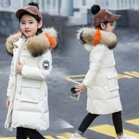 Girls winter wear long section thick 2018 new female big boy...