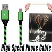 1M 2m 3m 0.25m micro USB carregador tipo C Dados de cabo trançado para samsung s8 plus android inteligente telefone