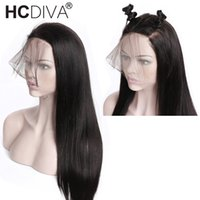 360 Lace Front Human Hair Wigs With Baby Hair 180% Density S...
