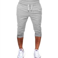 CALOFE Stripe Fitness Jogging Trunks Gray Sport Basketball S...