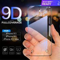 9d gehärtetes glas für iphone xs max xr 5s 7 8 plus glas displayschutzfolie für iphonex 6s 6 plus full cover film 9d gebogene kante