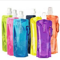 480ml foldable sports water Bag bottle Portable Drink bags D...