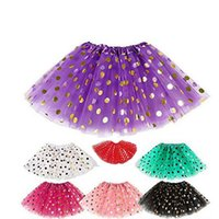 2016 girls gold polka dot tutu skirt baby christmas tutus ki...