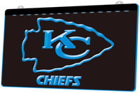 LS844- b- Kansas City Chiefs Bar 3D LED Neon Light Sign Decor ...