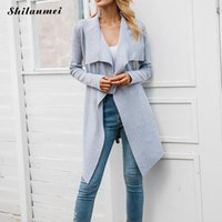 Fashion Autumn Office Ladies Elegant Sweater Cardigans Long ...