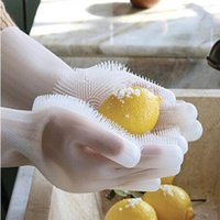 High Magic Silicone Rubber Dish Washing Gloves Eco- Friendly ...