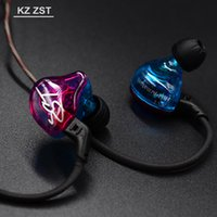 KZ ZST HIFI Headphones with Heavy Bass and Noise Isolating E...