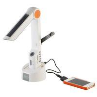 nuevo Original XLN-609 Lámpara de escritorio multifuncional de energía solar Radio de manivela dinamo FM con linterna LED y cargador de teléfono inteligente XLN 609
