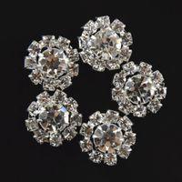 15mm de cristal Brilhante liga de strass botão meninas Crianças acessórios para o cabelo Flores claro strass bling rodada strass TO412