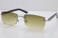 2020 جديد بدون إطار نظارات بالجملة T8200630 رجل إمرأة نظارات شمس خمر حار بيع مصمم النظارات الساخن نظارات الطيار النظارات الشمسية UV400