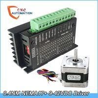 NEMA17 Schrittmotor 42 Motor mit TB6600 4A 9-42V Schrittmotortreiber NEMA17 17HS4401 CNC Lase 3D-Drucker