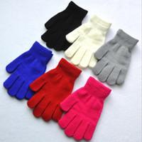 Erwachsene Winter Warme Strickhandschuhe für Kinder Jungen Mädchen Fünf Finger Magie Handschuhe Outdoor Sport Fitness Handschuhe Für Kinder Frauen Großhandel