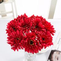 Gerberas Artificial Haste Faux Aranha Girassol Flores De Seda de Alta Qualidade para Home Hotel Decoração Do Escritório Do Casamento