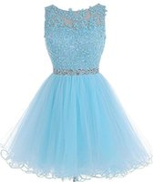 2018 New Cheap Tulle Short Homecoming Dresses For Juniors Wo...