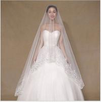 2018 La nouvelle version coréenne du voile de mariée, voile de mariée, des paillettes haut de gamme Lace longue, des accessoires de fil net en gros.