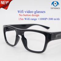 2018 New arrival WIFI óculos de vídeo sem botão de design de moda óculos de  sol da câmera inteligente homem mulheres 1080 p 300 mAh para Android iphone bbc42d22d6
