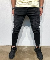 Mens Black Draped Jeans High Street Clothing Kanye West Penc...