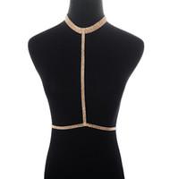 Belly Chains Cadena de cintura con cuerpo sexy de diamantes de imitación de lujo de Europa y Estados Unidos