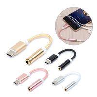 E-EDC USB Type C 3,5 наушников адаптер Type-C на 3,5 мм для наушников AUX аудио кабель конвертер для Xiaomi 6 Пусть V Le 2
