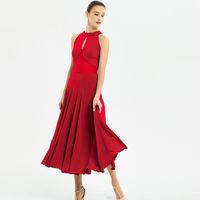 Kadın balo salonu elbise vals dans elbise foxtrot İspanyol flamenko dans giyim kırmızı dans elbise standart sosyal