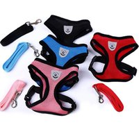 Dog Harness Breathable Mesh Small Dog Pet Harness and Leash ...
