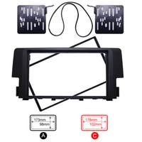 Double Din Modified Installation Car CD DVD Radio Stereo Fascia Frame Panel For Honda Civic 2016 Kit #4153